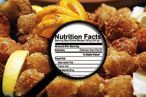 Nutrition Facts on menus